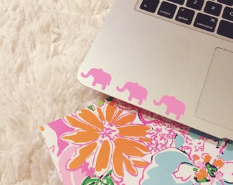 Three Pink Elephants, Laptop Stickers, Laptop Decal, Macbook Decal, Car Decal, Vinyl Decal