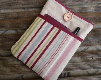 Womens iPad Sleeve, iPad Mini stripes, ipad mini cover, ipad mini sleeve, ipad mini 3 case, ipad mini case,  ipad mini case with pocket