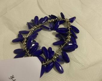 Blue Bracelet // Stretchy Dangle Bracelet // Bracelet Set