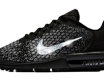 Women's Nike Air Max Sequent - Perfect Gift - Nike Shoes-Swarovski Nike - Nike Swarovski - Bling Nike Shoes - Bedazzled Nikes-