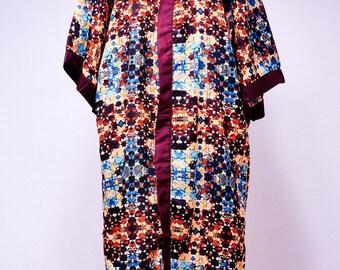 Poker-Dot Long Kimono
