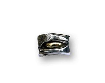 sensual ring sterling silver, brass
