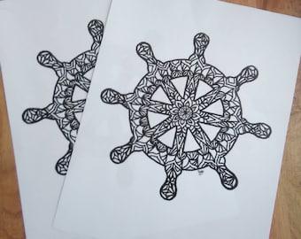 Ship Wheel Print