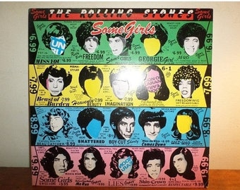 Vintage 1978 LP Record The Rolling Stones Some Girls Excellent Condition 12150