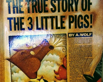 1989 Hardcover Edition of The True Story of the Three Little Pigs by Jon Scieszka