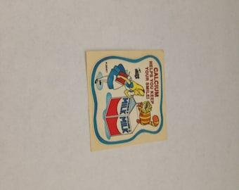 Vintage  Rare Mello Smello Disney Nutrition Alice In Wonderlamd Sticker 80s 1980s