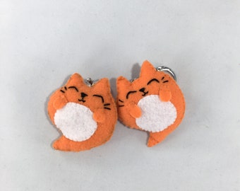 Fat Ghost Cat Keychain - Pudgins