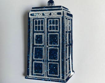 Tardis Brooch or Necklace