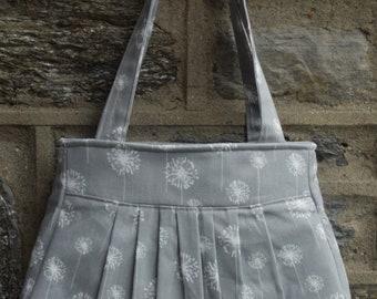 Pleated Bag- Gray Dandelion