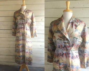 Chinese brocade embroidered robe - Maxi - long robe - satin brocade