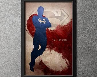 Original Giclee Art Print 'Man Of Steel'