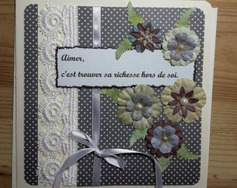 Card all occasions, ribbons, lace and philosophy...