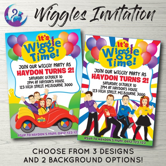 Wiggles Invitation Wiggles Invite Wiggles Birthday