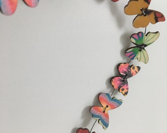 Wire Butterfly Garland