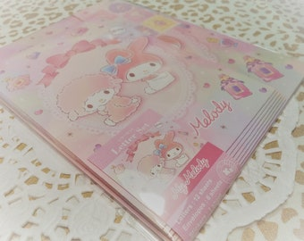 Kawaii 19 Pc. My Melody Cute Letter Stationery Set Pastel Pink great for Scrapbooking, Diy, Snail Mail, Pen pal, School, Stationery, Diy.