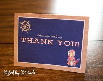 Ahoy! Nautical Thank You - PRINTABLE