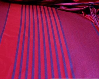 Fabric Trevira® CS taffeta stripes pink blau 300 cm wide not flammable