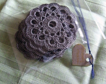 FREE SHIPPING - Six a flower coasters