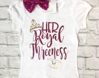 Third Birthday Shirt, Her Royal Threeness Shirt, Third Birthday, Girls Birthday Shirts, Girls Third Birthday Shirt, Girls Birthday Shirts