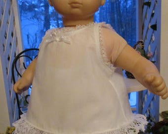 "White Baby Doll Slip and Diaper Cover or Undees to fit your 15"" Bitty Baby American Girl Doll"