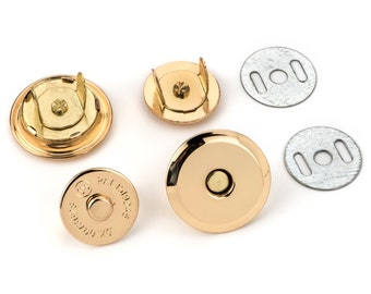 "30pcs UFO Magnetic Purse Snaps 25mm (1"") - Gold - (MAGNET SNAP Mag-184) - Free Shipping"