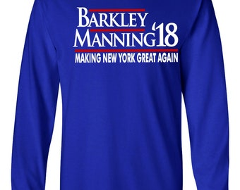 "LONG SLEEVE Barkley New York ""Barkley Manning 18""  T-shirt"