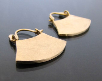 Gold Hoop Earrings 14k, 14k Gold Earrings, Solid Gold Hoops, Ethnic Earrings, Statement Earrings, Yellow Gold, White Gold, Rose Gold