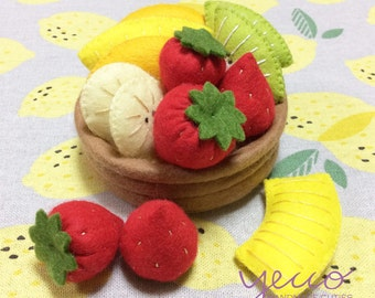 PDF pattern - Make Your Own Fruits Pie - Felt Fruits Pie Pattern and Tutorial - felt play food sewing pattern - E pattern