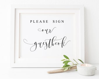 Please Sign Our GuestBook-Wedding Guest Book Sign-Guestbook Sign-Guest Book Sign-Wedding Printable-Table Sign-Guestbook Printable.