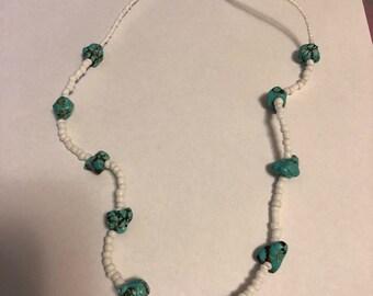 White & Turquoise Stone