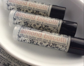 Almond Biscotti Flavored Best Natural Lip Balm Party Favor Wedding Favor Baby Shower Favor
