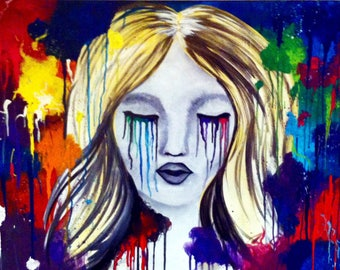 Vulnerable Painting on Stretched Canvas