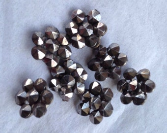 Antique small cut steel buttons