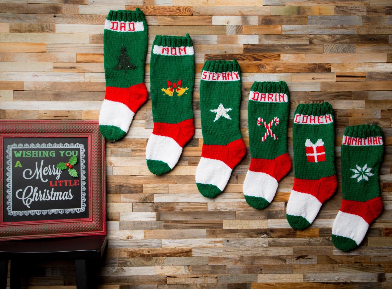 Knit Christmas Stocking Pattern, Knit Stockings, Christmas Stocking ...