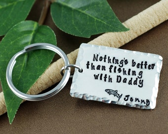 Daddy Keychain | Father's Day Keychain | Gift for Dad | Daddy Keychains |  Fishing Keychain | Gift for Him | Dad Gifts | Fisherman Keychain