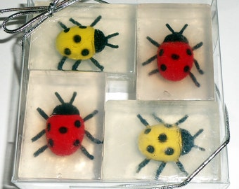 Ladybug Soaps for Party Favors, Garden Clubs, Girl Scouts, Spring!