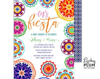 Fiesta Baby Shower Invitation / Couples Baby Shower Invite / Mexican Baby Shower Invitation / Coed Printable Digital FT01