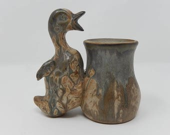 Old Duck with Pot, Denbac Ceramic, Free Shipping!