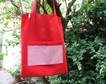 Jute bag, cloth bag, reversible tote bag
