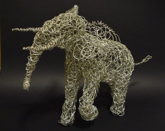 African Elephant Sculpture Wire