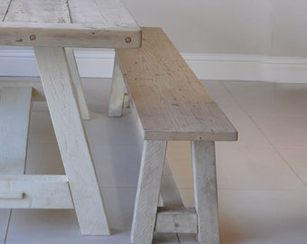 Reclaimed Wood Rustic Bench