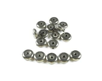 5 bead Donut Pyrite natural 10 x 3mm LBP00605