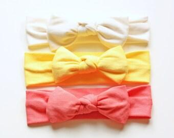 Sweet Bow Summer Trio - Bow Headband - Spring Headband - Photo Prop Headband