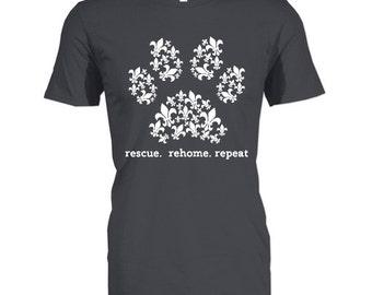 LAST CHANCE SALE Adult rescue tshirt , dog rescue shirt, animal rescue shirt , dog shirt, i love dogs,, pet lover, , adopt dont shop