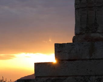 Poseidon's Temple at Sunset