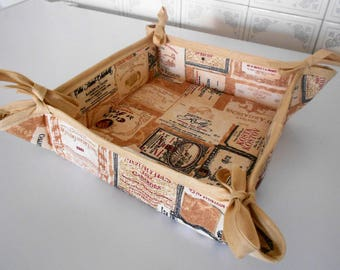 Storage basket or low-fabric bread box