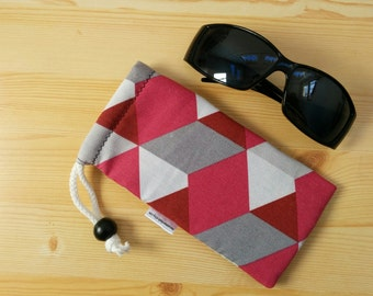 Glasses case,sunglasses case,cactus case,geometric case,quilted glasses case,sunglasses cover,glasses bag,glasses soft case,geometric
