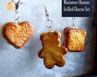 Grilled Cheese Miniature Charms - Handmade for bracelets, necklaces, and trinkets