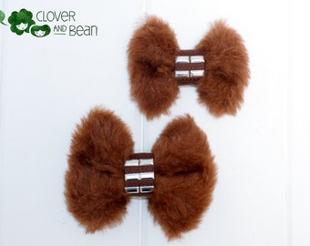 Chewbacca Bow - Chewbacca Bow Tie - Star Wars hairbow - Star Wars Bowtie - Chewie - Comic Con - Wonder Con - A Force Awakens