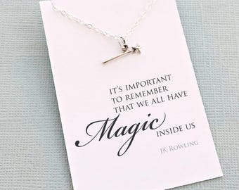 Fairytale Gift | Magic Wand Necklace, Fairytale Gifts, Gift for Daughter, Christmas Gift, Tinkerbell, Birthday Gift, Gift for Her | MA01